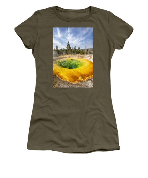 Morning Glory Pool In Yellowstone National Park Women's T-Shirt