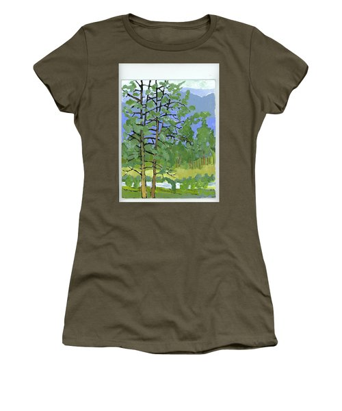 Morning In The Hills Women's T-Shirt (Athletic Fit)