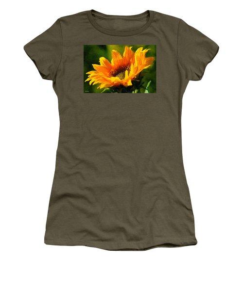 Women's T-Shirt (Junior Cut) featuring the digital art Morning Light by Chuck Mountain