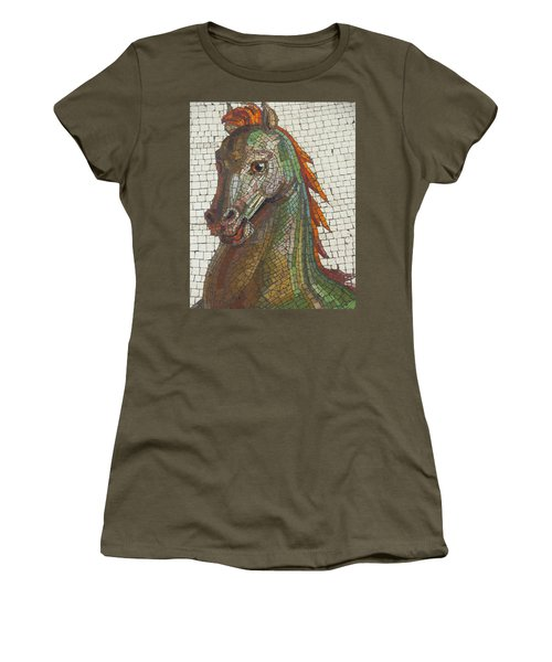 Mosaic Horse Women's T-Shirt (Athletic Fit)