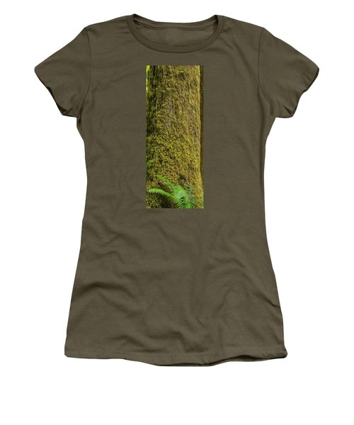 Moss Covered Tree Olympic National Park Women's T-Shirt (Athletic Fit)
