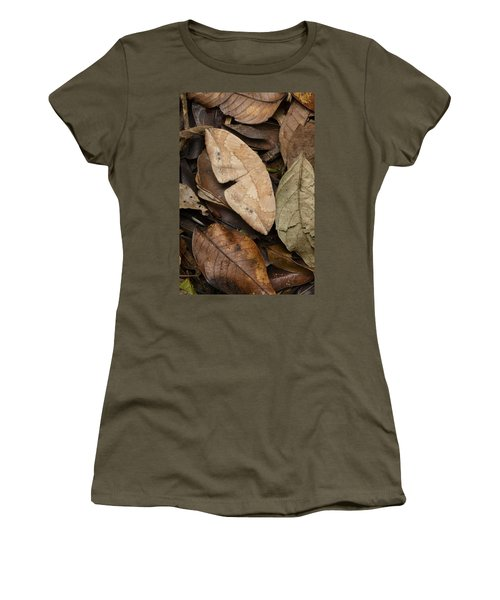 Moth Camouflaged Against Leaf Litter Women's T-Shirt