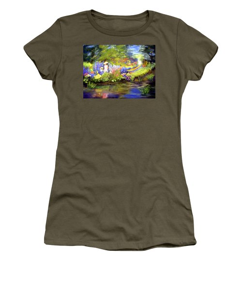 Women's T-Shirt (Junior Cut) featuring the painting Mother And Daughter by Gail Kirtz