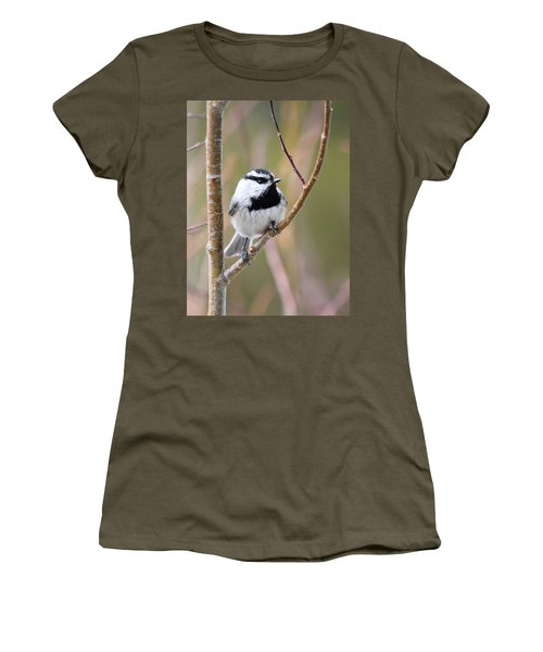 Mountain Chickadee Women's T-Shirt (Athletic Fit)