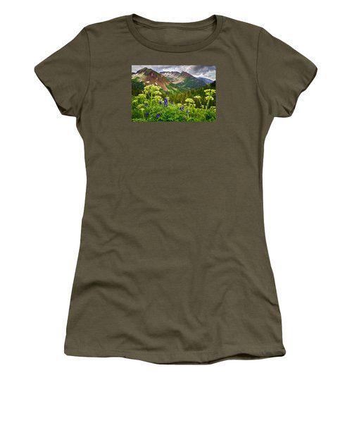 Mountain Majesty Women's T-Shirt (Junior Cut) by Priscilla Burgers