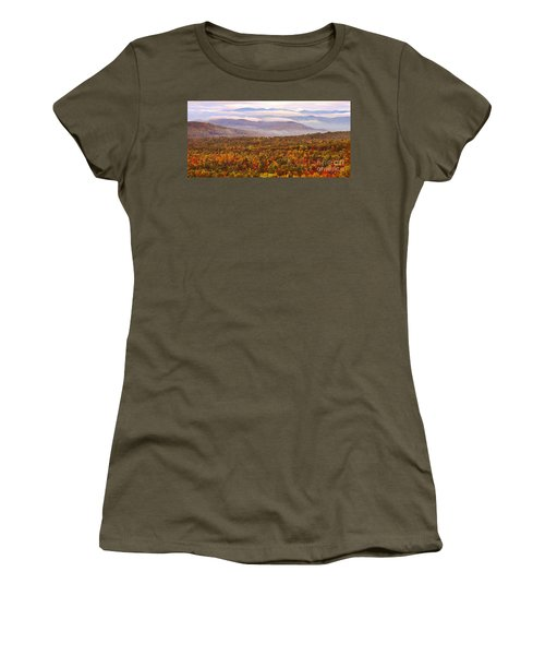 Mountain Mornin' In Autumn Women's T-Shirt (Athletic Fit)