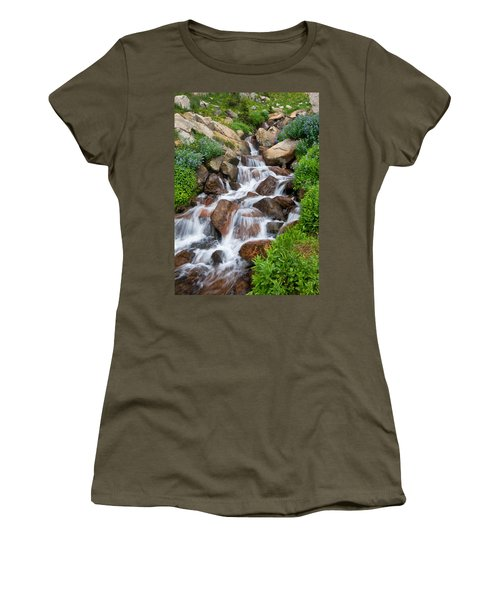 Women's T-Shirt (Junior Cut) featuring the photograph Mountain Stream by Ronda Kimbrow
