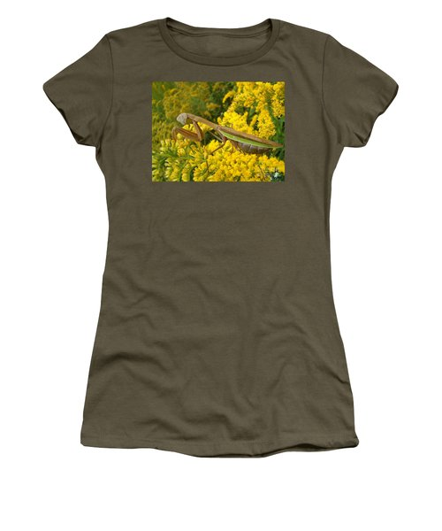 Women's T-Shirt (Junior Cut) featuring the photograph Mr. Mantis by Sara  Raber
