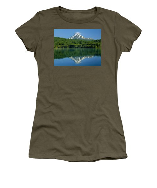 1m5705-h-mt. Mcloughlin From Lake Of The Woods Women's T-Shirt