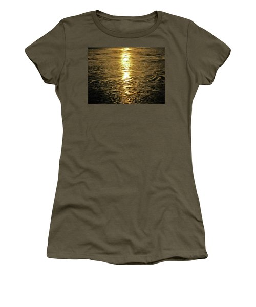 Women's T-Shirt (Junior Cut) featuring the photograph Muddy Reflection by Jeremy Rhoades