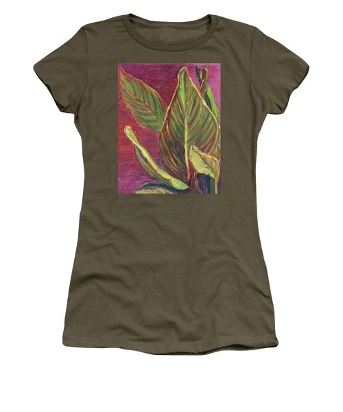 Multicolor Leaves Women's T-Shirt (Athletic Fit)