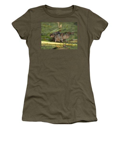 Women's T-Shirt (Junior Cut) featuring the photograph Munchkins by James Peterson