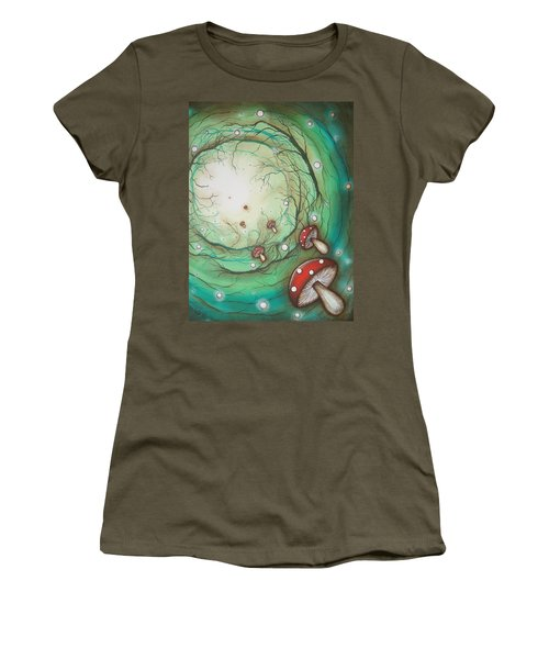Mushroom Time Tunel Women's T-Shirt (Athletic Fit)