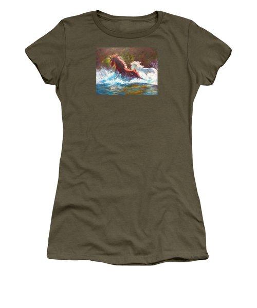 Mustang Splash Women's T-Shirt (Athletic Fit)