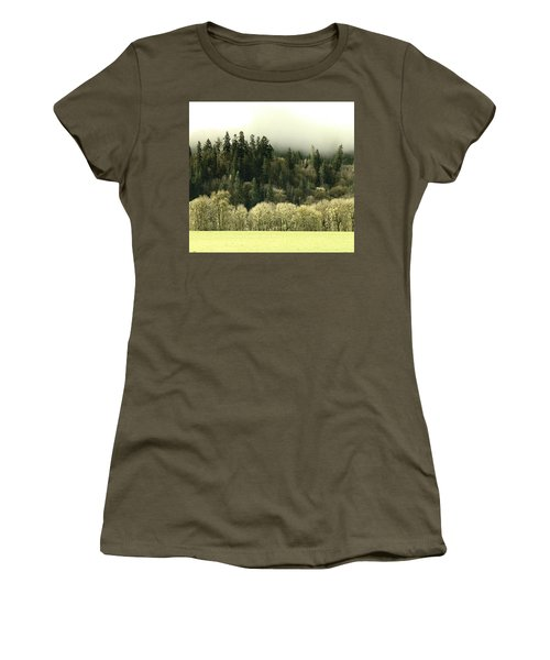Women's T-Shirt (Junior Cut) featuring the photograph Muted Hillside Colors by Katie Wing Vigil