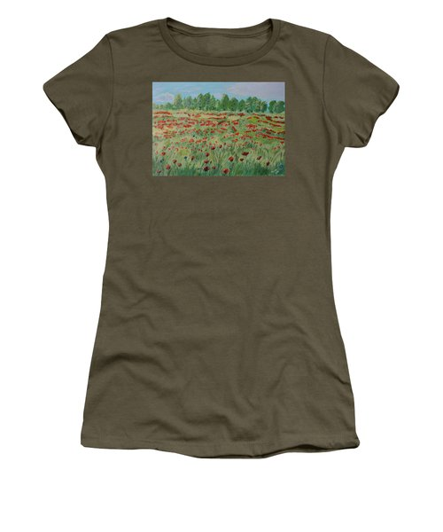 My Poppies Field Women's T-Shirt (Athletic Fit)