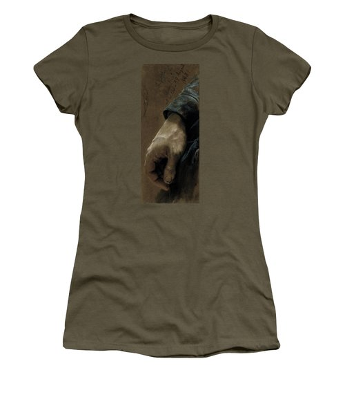 My Right Hand Drawn With My Left Hand, 1848 Coloured Chalk On Paper Women's T-Shirt