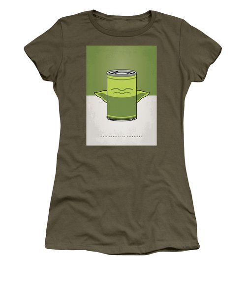 My Star Warhols Yoda Minimal Can Poster Women's T-Shirt (Athletic Fit)