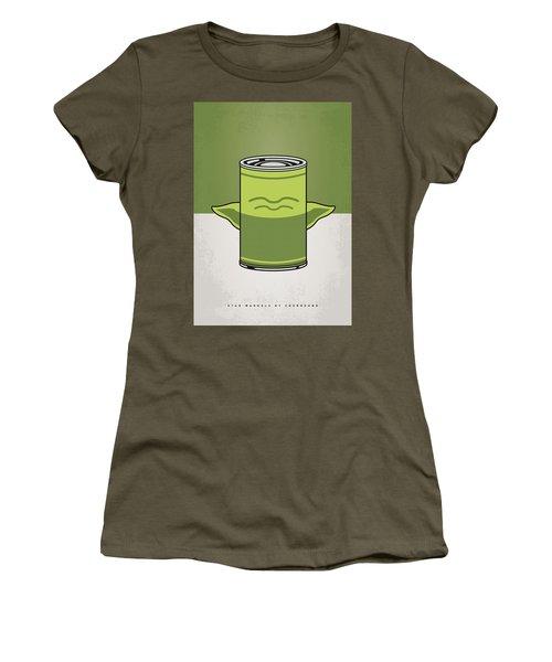 My Star Warhols Yoda Minimal Can Poster Women's T-Shirt