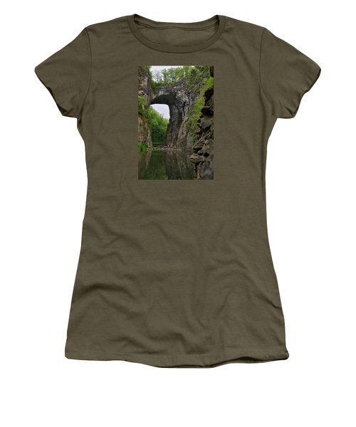 Natural Bridge Women's T-Shirt (Junior Cut) by Lawrence Boothby