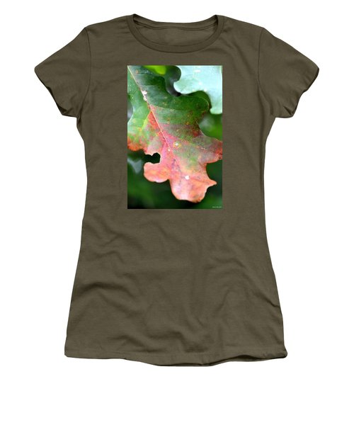 Natural Oak Leaf Abstract Women's T-Shirt (Athletic Fit)