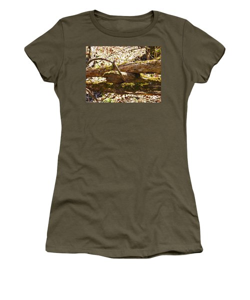 Women's T-Shirt (Junior Cut) featuring the photograph Natures Fence by Nick Kirby