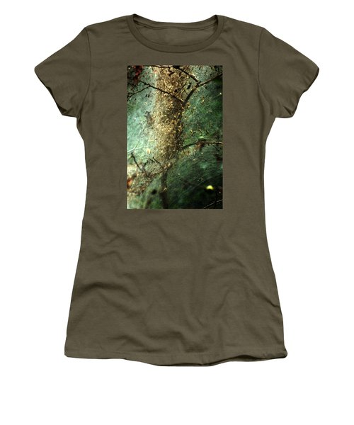 Natures Past Captured In A Web Women's T-Shirt