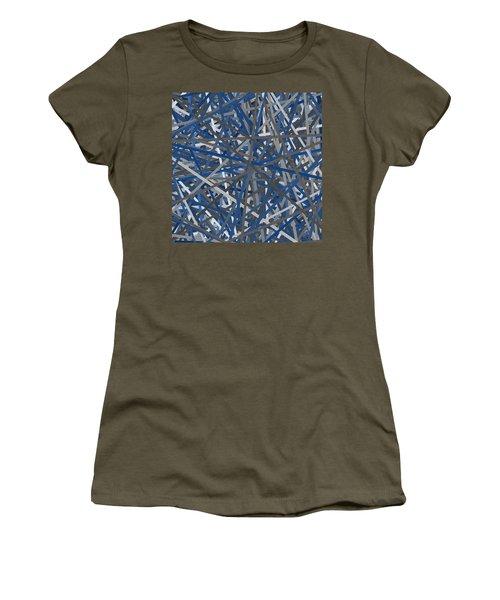 Navy Blue And Gray Art Women's T-Shirt