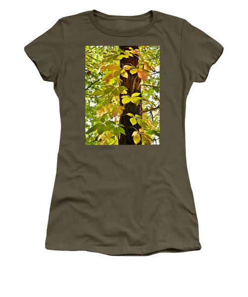 Neon Leaves Women's T-Shirt