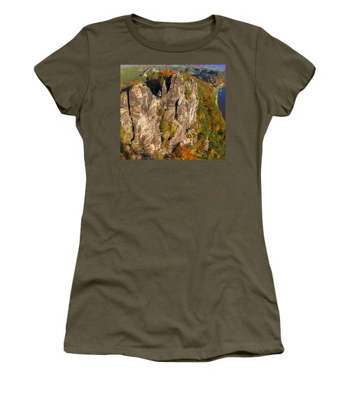 Neurathen Castle In The Saxon Switzerland Women's T-Shirt