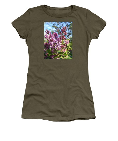 Women's T-Shirt (Junior Cut) featuring the photograph Purple Lilac by Eunice Miller