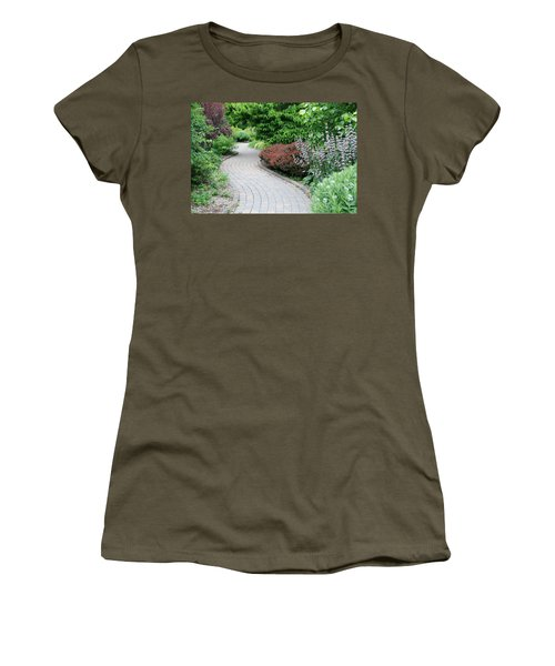 Women's T-Shirt (Junior Cut) featuring the photograph Frelinghuysen Arboretum Path by Richard Bryce and Family