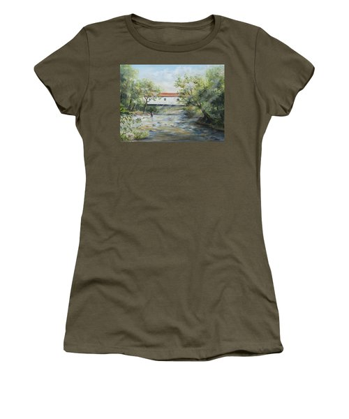 New Jersey's Last Covered Bridge Women's T-Shirt (Athletic Fit)