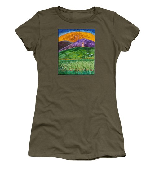 Women's T-Shirt (Junior Cut) featuring the painting New Jerusalem by Cassie Sears