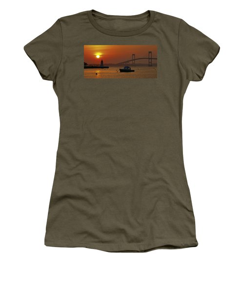 Newport Sunset Women's T-Shirt (Athletic Fit)