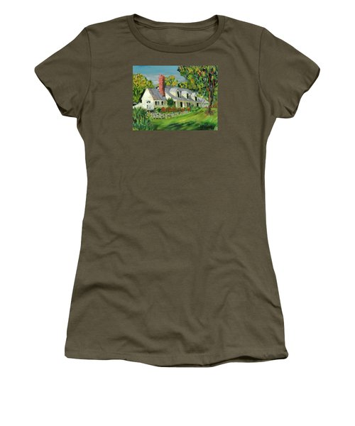 Women's T-Shirt (Junior Cut) featuring the painting Next To The Wooden Duck Inn by Michael Daniels