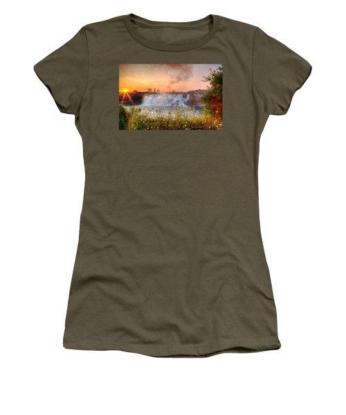 Niagara Falls Canada Sunrise Women's T-Shirt