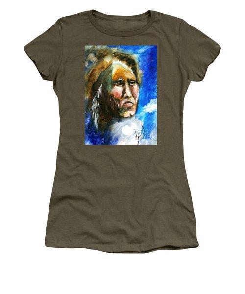 Women's T-Shirt (Junior Cut) featuring the painting Night Spirit by Karen  Ferrand Carroll
