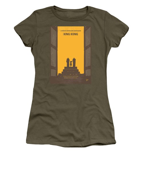 No133 My King Kong Minimal Movie Poster Women's T-Shirt (Athletic Fit)