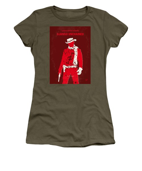 No184 My Django Unchained Minimal Movie Poster Women's T-Shirt