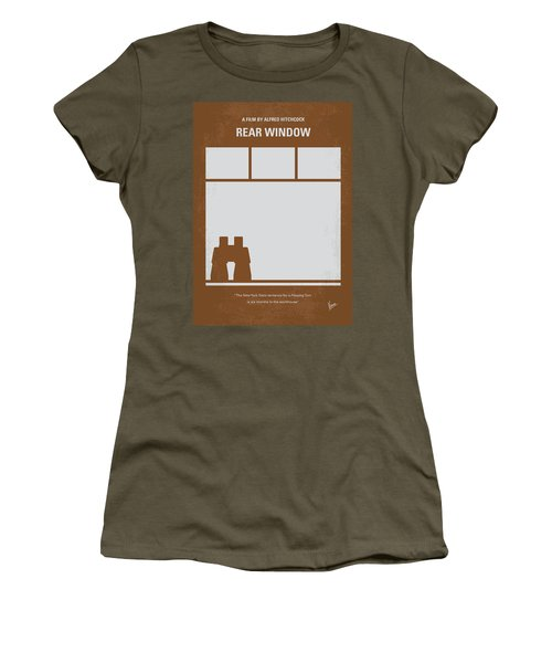 No238 My Rear Window Minimal Movie Poster Women's T-Shirt (Athletic Fit)