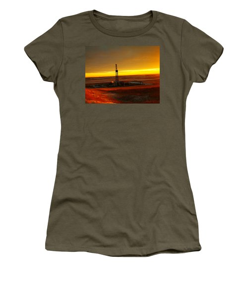 Nomac Drilling Keene North Dakota Women's T-Shirt (Junior Cut) by Jeff Swan
