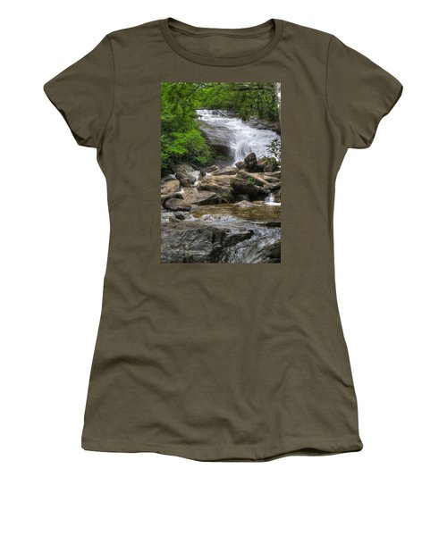 North Carolina Waterfall Women's T-Shirt (Athletic Fit)