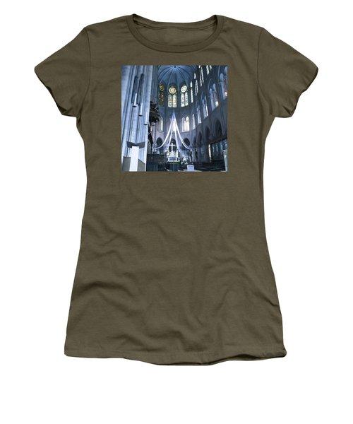 Notre Dame Altar Teal Paris France Women's T-Shirt