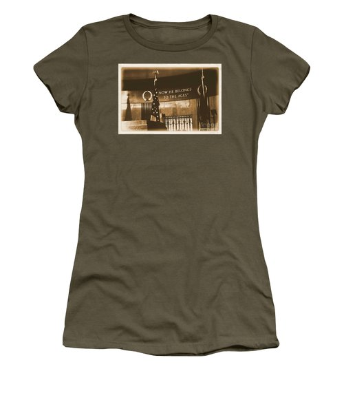 Women's T-Shirt (Junior Cut) featuring the photograph Now He Belongs To The Ages by Luther Fine Art