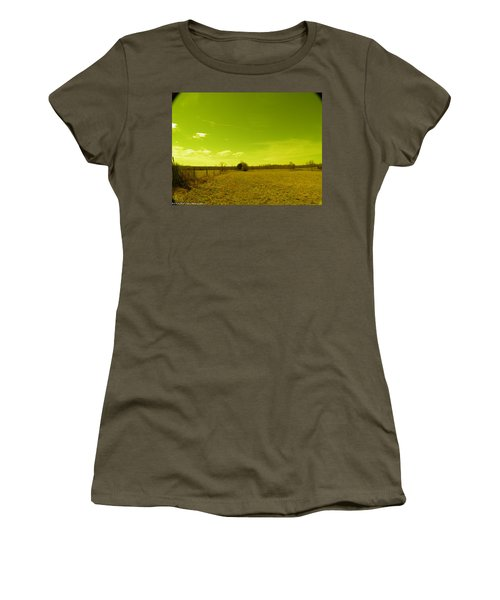 Women's T-Shirt (Junior Cut) featuring the photograph Nuclear Fencerow by Nick Kirby