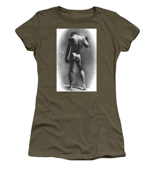 Nude Man In Contemplation Drawing Women's T-Shirt