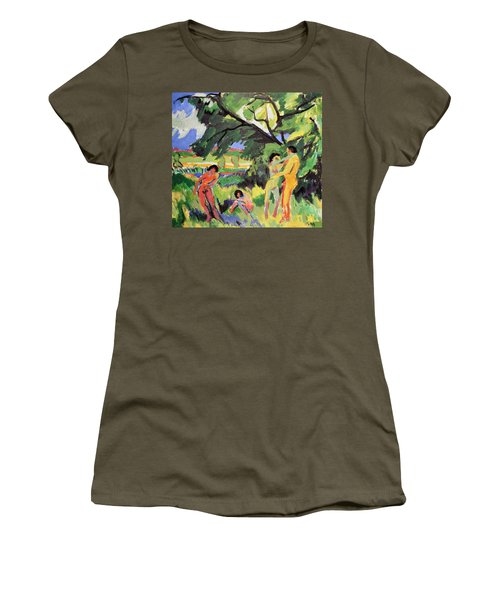 Nudes Playing Under Tree Women's T-Shirt