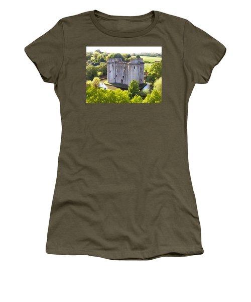 Nunney Castle Painting Women's T-Shirt (Athletic Fit)