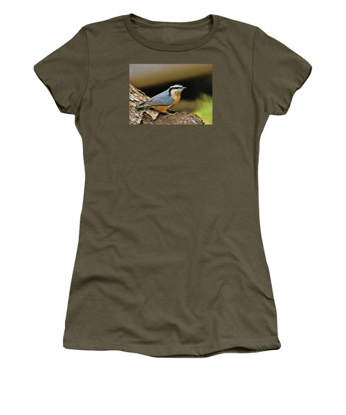 Nuthatch Pose Women's T-Shirt (Athletic Fit)